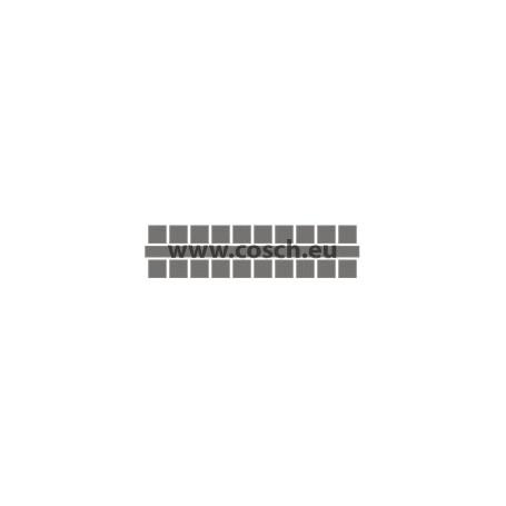 Ministeck kleur 16 donkergrijs, 1st. puntjes
