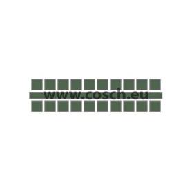 Ministeck kleur 17 olijf, 1st. puntjes