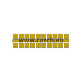 Ministeck kleur 18 goud, 1st. puntjes