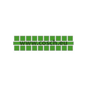 Kleur 21 midden groen, 1st. puntjes
