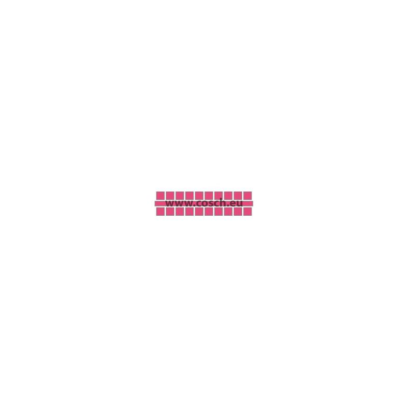 Ministeck kleur 23 fel roze, 1st. puntjes