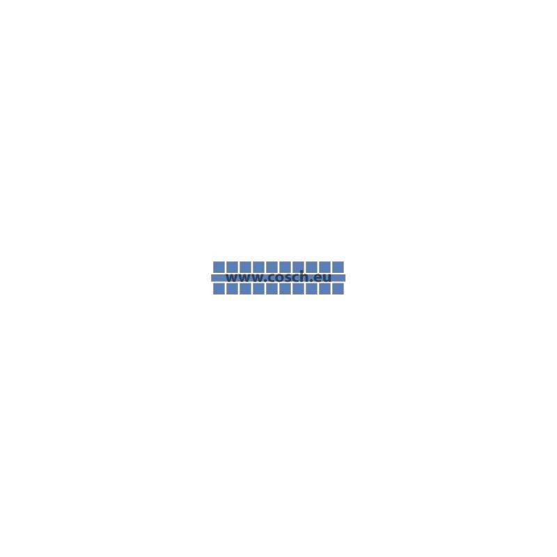 Ministeck kleur 24 midden blauw, 1st. puntjes