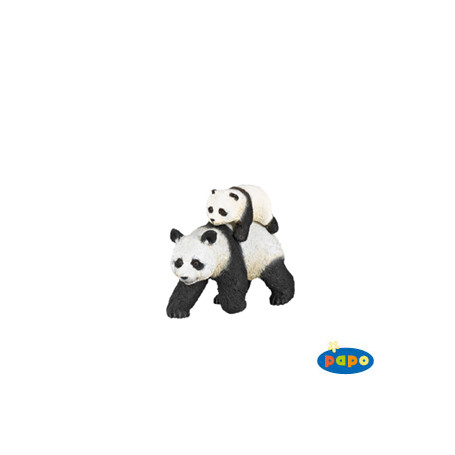 Papo 50071 Panda mit Jungtier