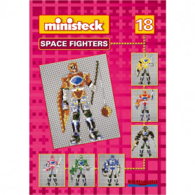 Ministeck voorbeeld boek nr.18 Space Fighters