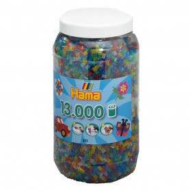 Hama 13.000 strijkkralen in pot Glitter