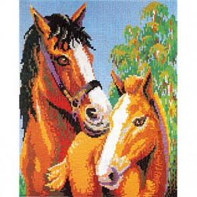 Stickit  41217 Paard met veulen