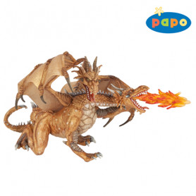 PAPO 38938 Two-Headed Golden Dragon
