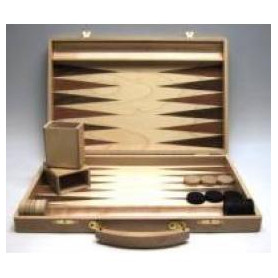 Backgammon koffer [Blank hout]