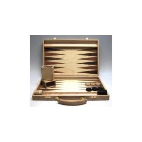 Backgammon koffer [Blank hout]