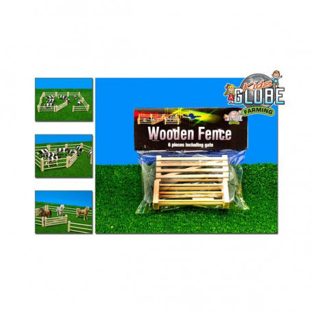 x Wooden fence 6 pcs including gate