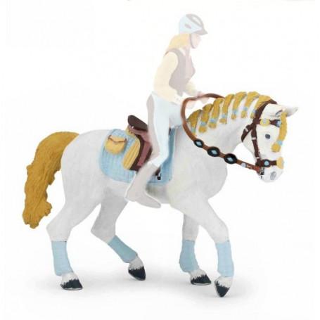 Papo 51545 Paard met gevlechte manen