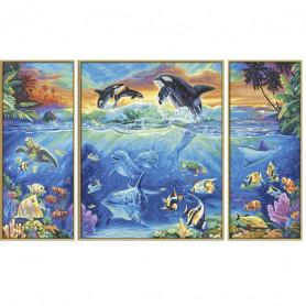 Aan het koraalrif - Schipper Drieluik 50 x 80 cm