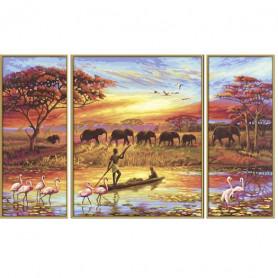 Afrika - magie van een continent - Schipper Drieluik 50 x 80 cm