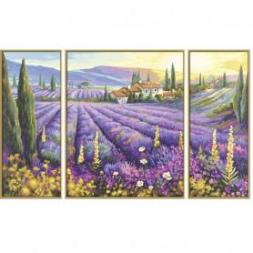 Lavendelvelden - Schipper Drieluik 50 x 80 cm