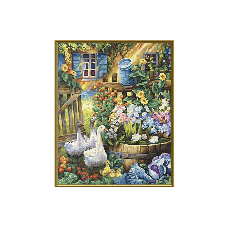Ganzen in de tuin - Schipper 40 x 50 cm