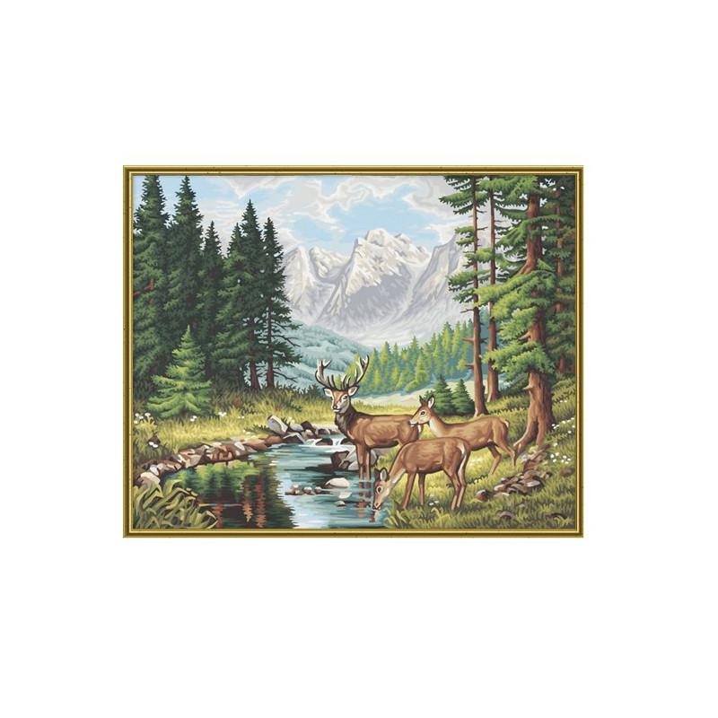 Vredig berglandschap