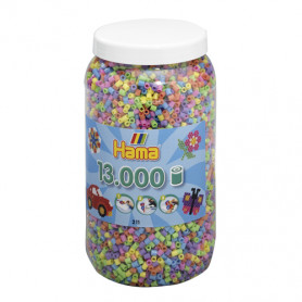 Hama 13.000 strijkralen in Pot Pastel