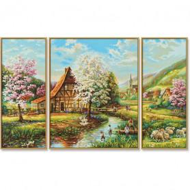 Schilderen op nr. Landelijke Idylle 50x80cm.
