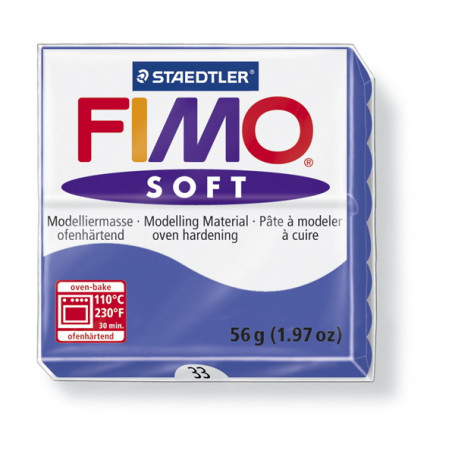 Fimo soft nr 33 Brillant blauw