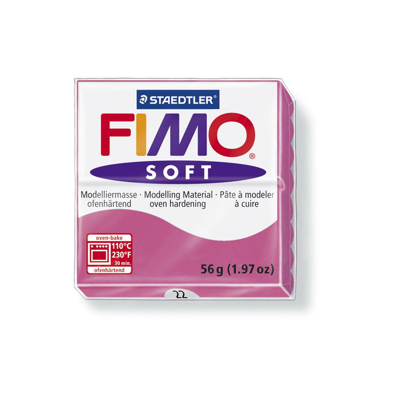 Fimo soft nr 22 Framboos