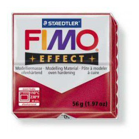 Fimo Effect nr. 28 Metallic Ruby Red