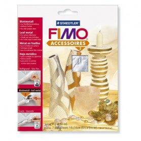 Fimo Leaf metal silver