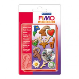 Fimo push mould  Alps style