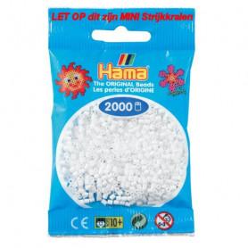 Hama mini beads color 01 Weiss