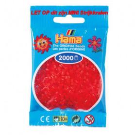 Hama mini kralen kl 13 rood doorzichtig