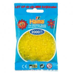 Hama mini kralen kl 14 geel doorzichtig