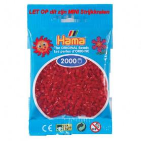 Hama mini beads color  22 Dark Red