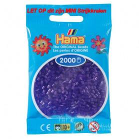 Hama mini kralen kl 24 paars doorzichtig