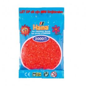 Hama mini kralen kl 35 rood neon