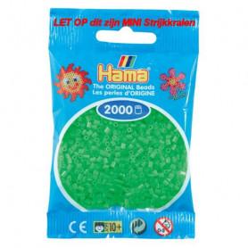 Hama mini kralen kl 42 Groen Fluorescerend