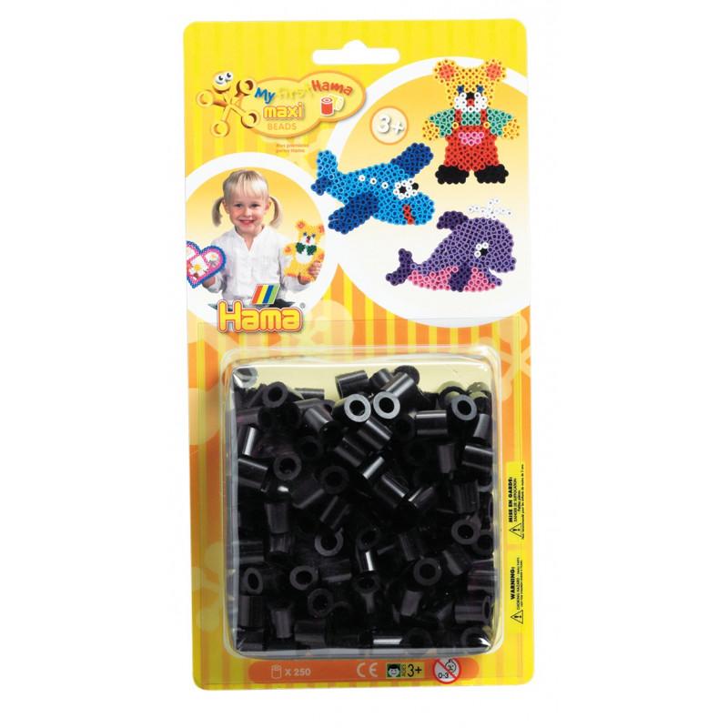 Hama maxi strijkkralen zwart 250 st.