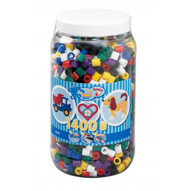 Strijkkralen maxi mix pastel 500 st.