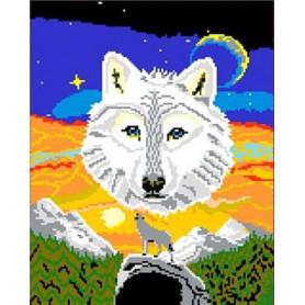Ministeck 41260 Wolf mit Nachleuchtsteinen