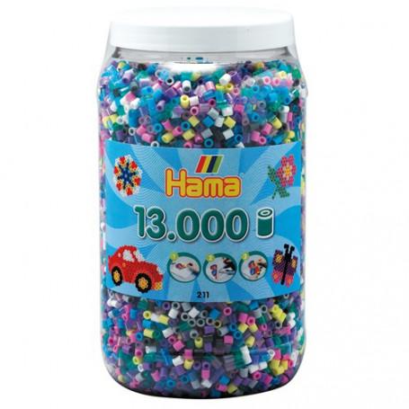 Hama 13.000 strijkkralen in pot Assorti