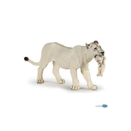Papo 50203 Witte Leeuwin met jong