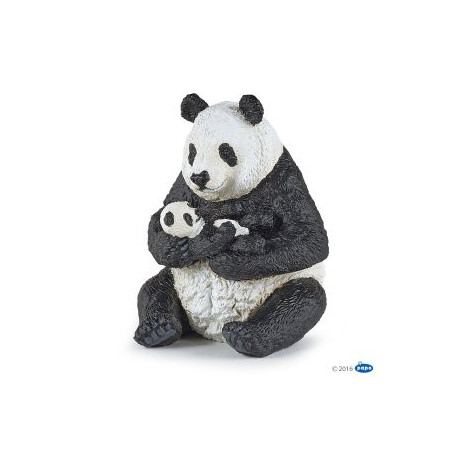 Papo 50196 Panda zittend met baby