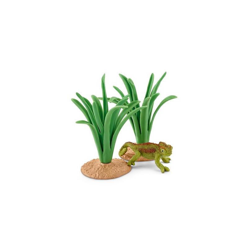 Schleich 42324 Kameleon in het riet