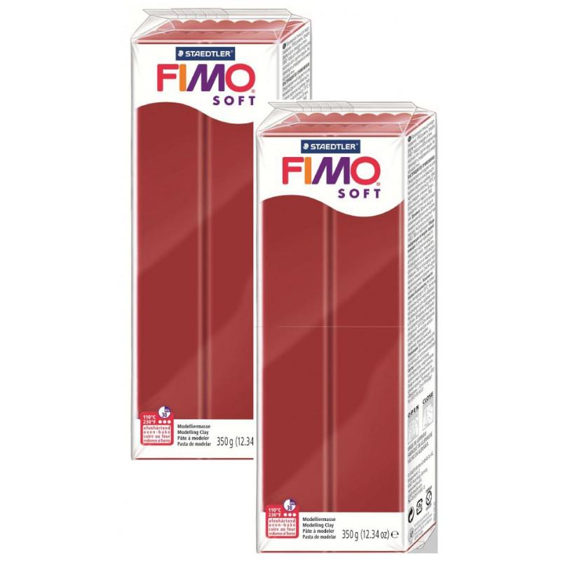 Fimo soft Kerstrood nr 2P 350 gram