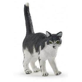 Papo 54041 Zwart/witte kat