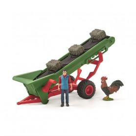 Schleich 42377 Hay Conveyor with Farmer