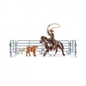 Schleich 41418 Team roping mit Cowboy