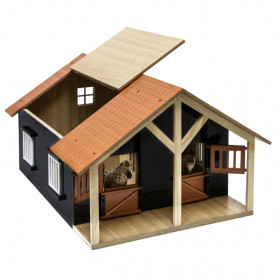 Horsestable Wood with 2 boxes and workshop 1:24 Kids Globe