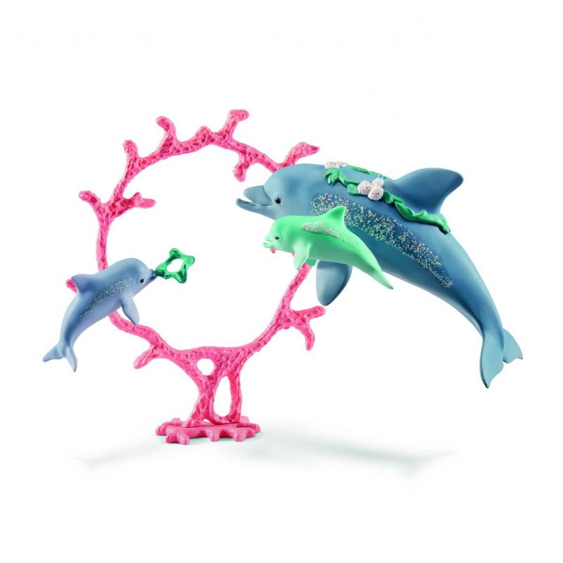 Schleich 41463 Dolfijnmoeder met jongen