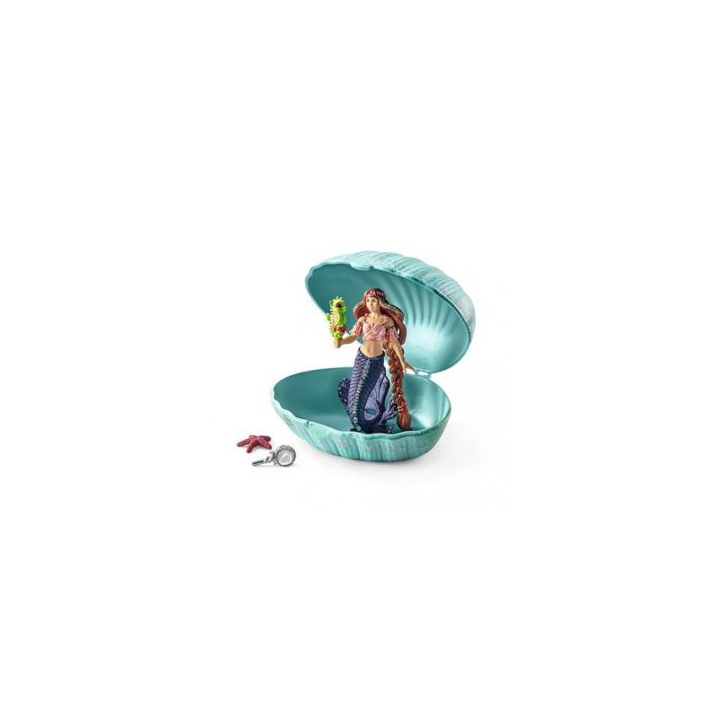 Schleich 70563 Zeemeermin met babyzeepaard in schelp