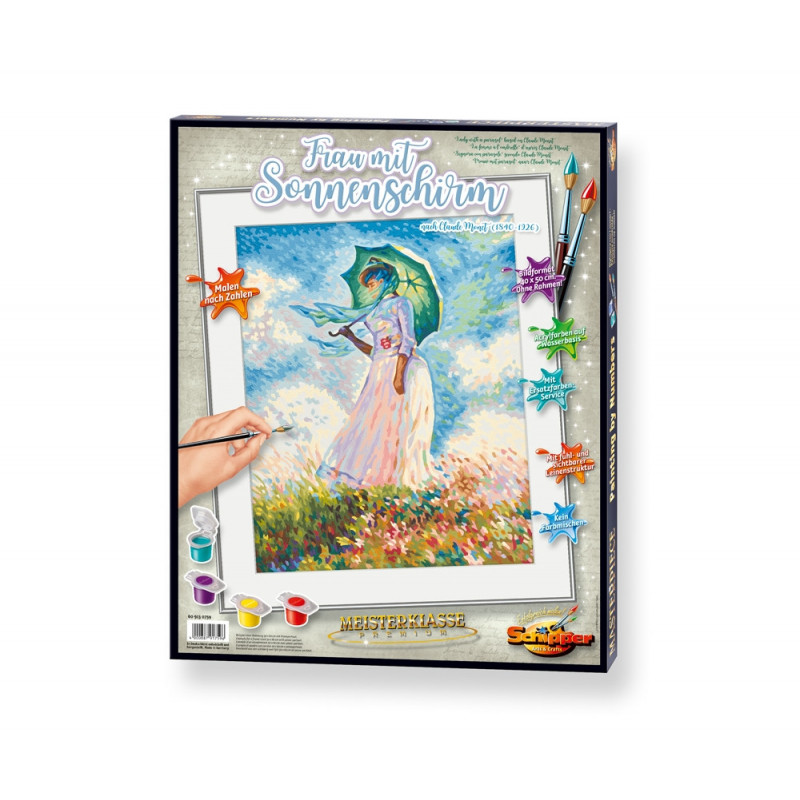 """""""Vrouw met parasol"""" naar Claude Monet (1840-1926)"""