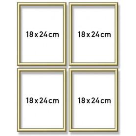 Goudkl. aluminium lijst quattro 18x24cm